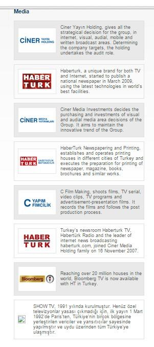 Ciner group مجموعة جينار الاعلامية: