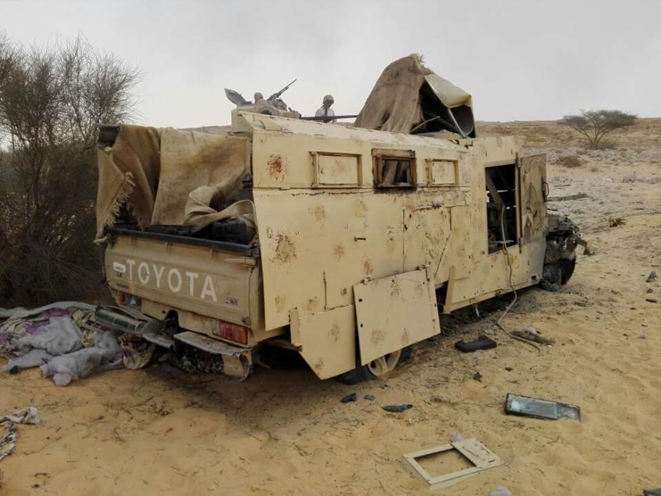 خسائر المسلحين في سيناء