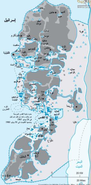 الجزء المتبقي من الضفة الغربية الذي سيخضع للسلطة الفلسطينية