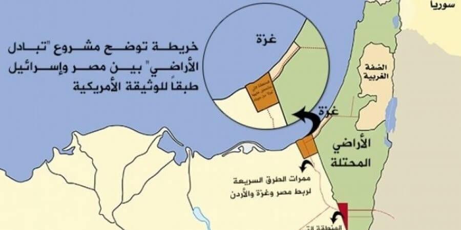 تبادل أراضي مصرية مع دولة الاحتلال الاسرائيلي