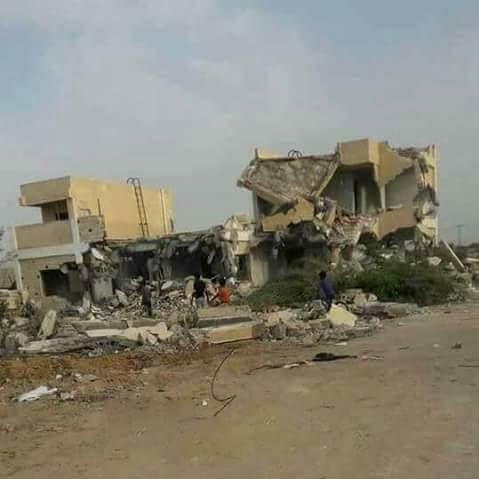 صورة للوحدة الصحية بقرية الماسورة بعد هدمها