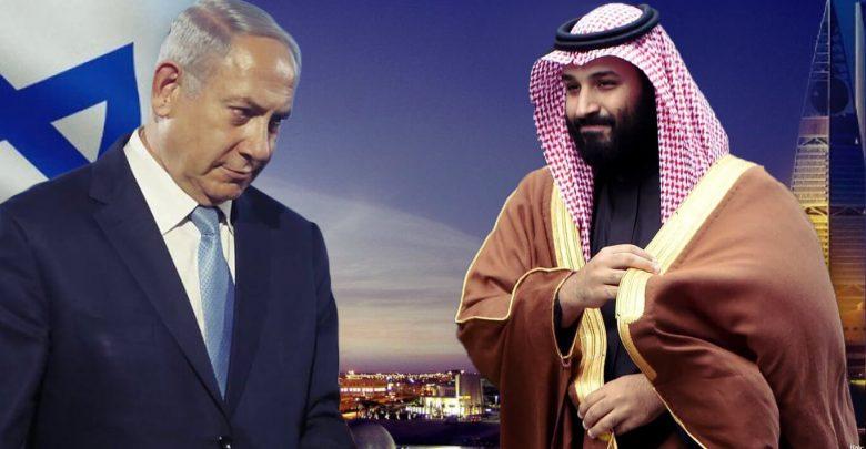 Photo of محمد بن سلمان متحدثا باسم نتنياهو