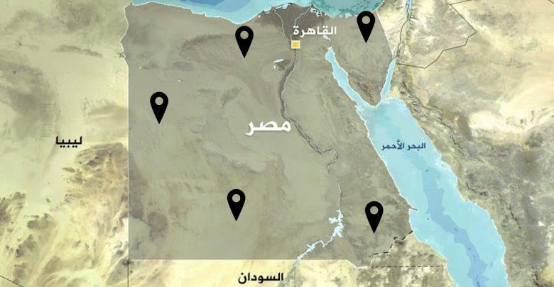 التوزيع الديموغرافي للقبائل في مصر