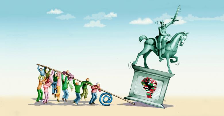 دور الإنترنت في الثورات العربية