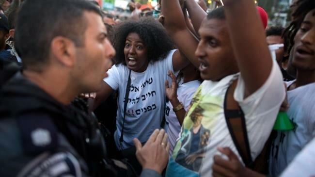"""مظاهرات اليهود الفلاشا في """"إسرائيل"""""""