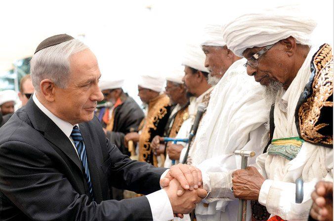 نتنياهو مع قادة الفلاشا صورة أرشيفية