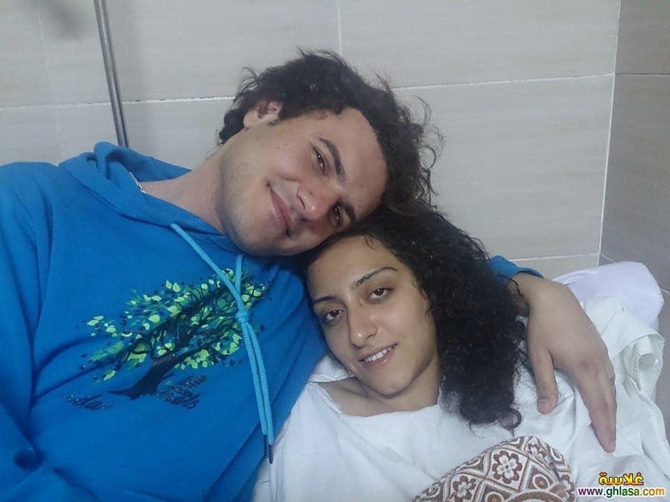 أحمد حرقان مع صديقته السابقة ندى (سالي) منصور