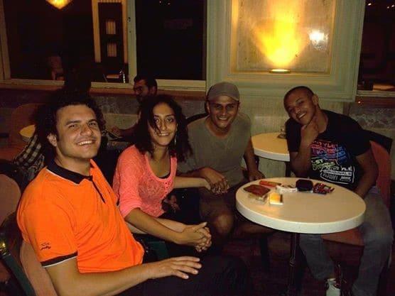 صورة تجمع من اليسار إلى اليمين: أحمد حرقان، سالي مندور، إسماعيل محمد